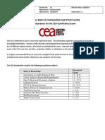 CEA BodyofKnowledge StudyGuide