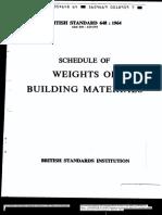 BS648-Schedule of Weights of Building Materials