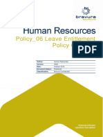 BSL HR Policy-06 Leave Entitlement Policy v002 2018-10