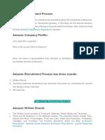 Amazon Recruitment Process