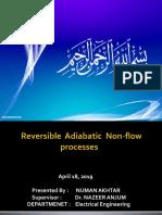 Reversible Adiabatic Non-flow PROCESSES