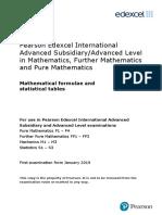 IAL Mathematics Formula Book