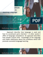 Ppt Approach, Method, And Technique in Teaching Language