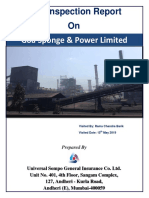 Risk Inspection Report on Goa Sponge & Power Limited