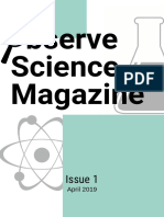 observe science magazine 1st edition