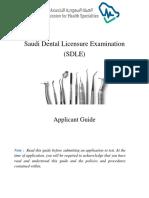 SDLE Applicant Guide