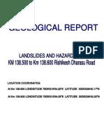 Landslides and Hazards at KM 138.500