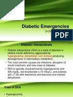 Diabetic Emergencies by Dr Gireesh Kumar K P, Department of Emergency Medicine, Amrita Institute of Medical Sciences, Kochi