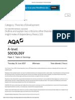 Theories of Development – ReviseSociology