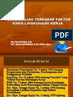 Pengendalian Terhadap Faktor Kimia Lingkungan Kerja