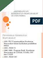 Perkembangan Kesehatan Masyarakat Di Indonesia