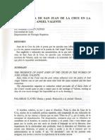 La Presencia de SanJuan de La Cruz en La Obra de Jose Angel Valente
