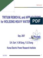 Wolsong Tritium Removal Facility Tritium