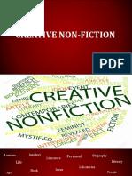 Creative Non Fiction
