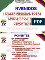 I Encuentro Regional Sobre Lineas y Politicas Deportivas