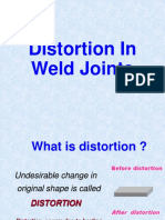 Distortion in Weld Joint