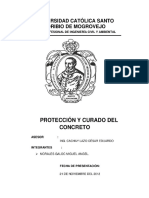 Protección y Curado Del Concreto