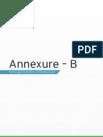 Annexure – B