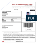 The Institute of Chartered Accountants of India - Admit Card