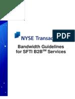 sfti tt bandwidth guideline b2b