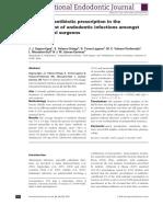 PRESCRIPCIONES Pattern of antibiotic prescription in the management of endodontic infections amongst Spanish oral surgeons (p 342-350).pdf