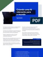 Criando uma Fé Relevante para o Mundo - Yago Martins
