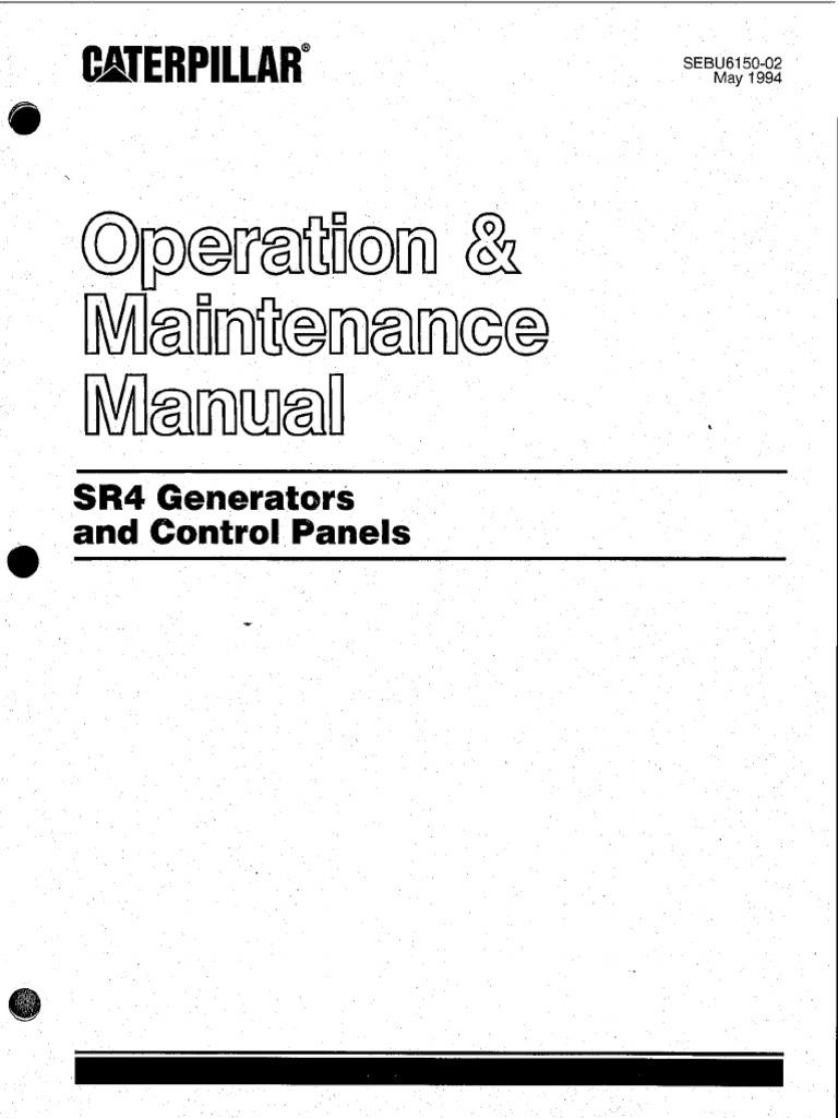SR4 Generator and control panels_Operation and maintenance manual.pdf    Electric Generator   Electrical EquipmentScribd
