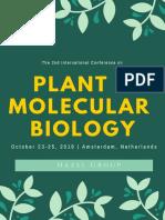 Plant 2019 Tentative Program