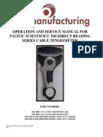 Pacific Scientific T60 User Manual