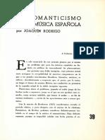 El Romanticismo en La Música Española - Joaquín Rodrigo