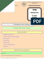 Sujets-TD Trasfert de Chaleur