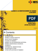 Bamboo as reinforcement in Cement Concrete Presentation