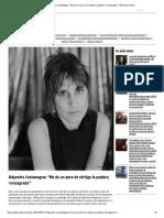 """Alejandra Costamagna_ """"Me Da Un Poco de Vértigo La Palabra 'Consagrada'"""" _ El Desconcierto"""