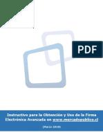 Instructivo Firma Electrónica (Actualizado) 2018