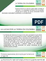 Historia de La Propiedad de La Tierra en Colombia