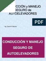 Conducción y Manejo Seguro de Autoelevadores