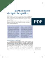 Roland Barthes Diante Do Signo Fotográfico