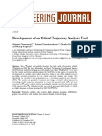 Development of an orbital trajectory analysis tool