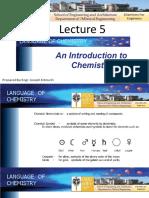 Lec5 Language of Chemistry