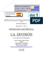 Operaciones Aritmeticas La División