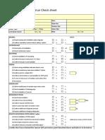 Pre-testun Check Sheet