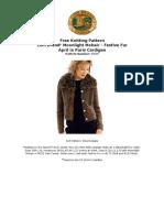 Knit Pattern April in Paris Cardigan 40595 a 1