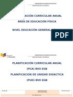 Pca y Pud de Educacion Fisica Basica y Superior