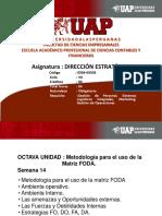 OCTAVA UNIDAD Metodología Para El Uso de La Matriz FODA DIR ESTRATEGICA SEMANA 14 Metodología Para El Uso de La Matriz FODA(1)