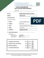 Ficha Inscripcion de PPP EAP Arquitectura