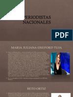Periodistas Nacionales y Internacionales (Lesli)