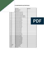 Lista de Componentes Electrotecnia
