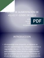 FUENTE DE ALIMENTACIÓN DE +5,+12 (1) (1)