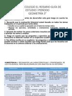 GUÍA DE ESTUDIO 3° P1 GEOMETRIA