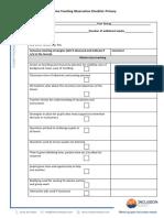 Inclusive Teaching Checklist
